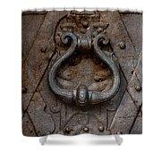Steel Decorated Doorknob Shower Curtain