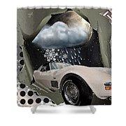 Steel Frame Stingray Shower Curtain