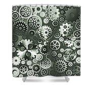 Steel Gears Shower Curtain