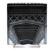 Steel Girder Bridge Shower Curtain