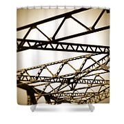 Steel Lines Shower Curtain
