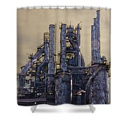 Steel Mill - Bethlehem Pa Shower Curtain by Bill Cannon