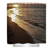Steel Mill Sunset Shower Curtain
