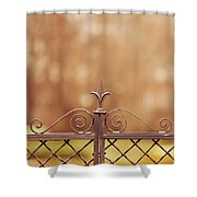 Steel Ornamented Fence Shower Curtain