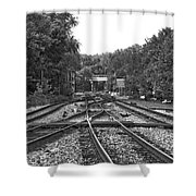 Steel Rail Intersections.   Point Of Rocks Md Shower Curtain