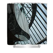 Steel Ribs Shower Curtain