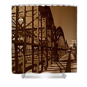 Steel Shadows Shower Curtain
