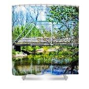 Steel Span Bridge Gettysburg Shower Curtain