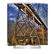 Steel Strong Rr Bridge Over The Yellow River Shower Curtain