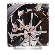 Steel Tractor Shower Curtain