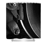 Steel Wheel I Shower Curtain