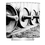 Steel Wheels Shower Curtain