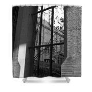 Steel Window Shower Curtain