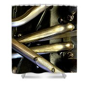 Steely Arms Shower Curtain