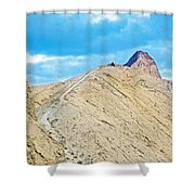 Steep Trail To Manly Beacon From Golden Canyon In Death Valley National Park-california  Shower Curtain
