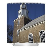 Steeple At Bruton Parish Church Shower Curtain