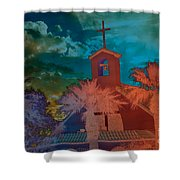 Steeple Bell Tower Shower Curtain by Beverly Guilliams