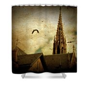 Steeple Crows Shower Curtain