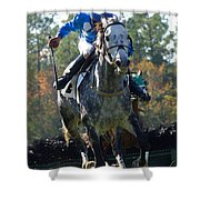 Steeplechase Shower Curtain