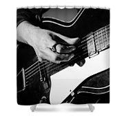 Stella Burns - Guitar Close-up Shower Curtain