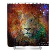 Stellar Lion Shower Curtain