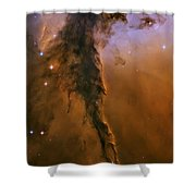 Stellar Spire In The Eagle Nebula Shower Curtain by Adam Romanowicz