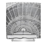 Stencil Up Lighthouse Stairs Shower Curtain
