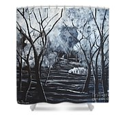 Step Into The Woods Shower Curtain