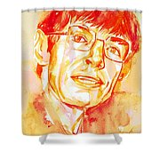 Stephen Hawking Portrait Shower Curtain