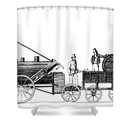 Stephensons Rocket 1829 Shower Curtain by Science Source