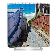 Aliso Creek Beach Access Shower Curtain