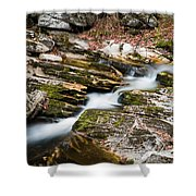Stepping Down The River Shower Curtain