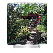 Stepping Into Harmony Shower Curtain