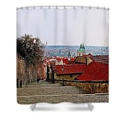 Steps Of Prague Shower Curtain