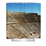 Steps Of The Theatre In The Ruins Shower Curtain