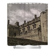 Sterling Castle Scotland Sterling Closed Grey Shower Curtain