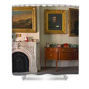 Steuben County Christmas Shower Curtain