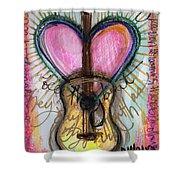 Steve Gold Guitar Shower Curtain