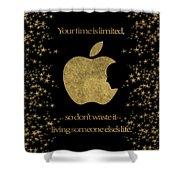 Steve Jobs Quote Original Digital Artwork Shower Curtain