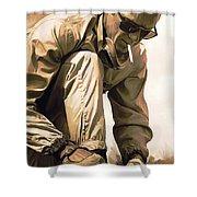 Steve Mcqueen Artwork Shower Curtain by Sheraz A