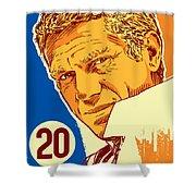 Steve Mcqueen Pop Art - 20 Shower Curtain