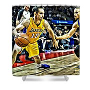 Steve Nash In Action Shower Curtain