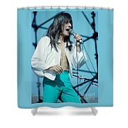 Steve Perry Of Journey At Day On The Green - July 1980 Shower Curtain
