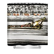 Steve Torrence Top Fuel Solerized Shower Curtain