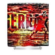 Steven Gerrard Liverpool Symbol Shower Curtain