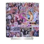Stevie Nicks Art Collage Shower Curtain
