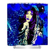 Stevie Nicks In Blue Shower Curtain