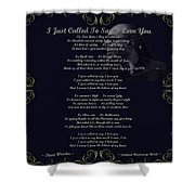 Stevie Wonder Gold Scrolled Called To Say I Love You Shower Curtain