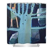 Sticker Tree Shower Curtain