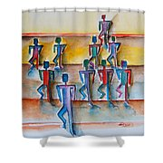 Stickman Performers Shower Curtain